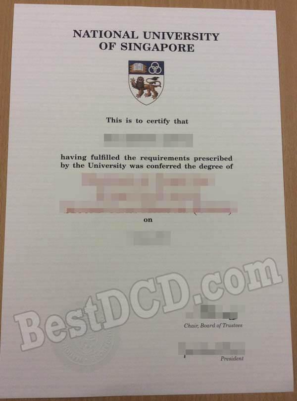 Buy National University of Singapore fake degree