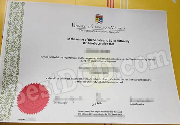 how much a copy of UKM fake degree