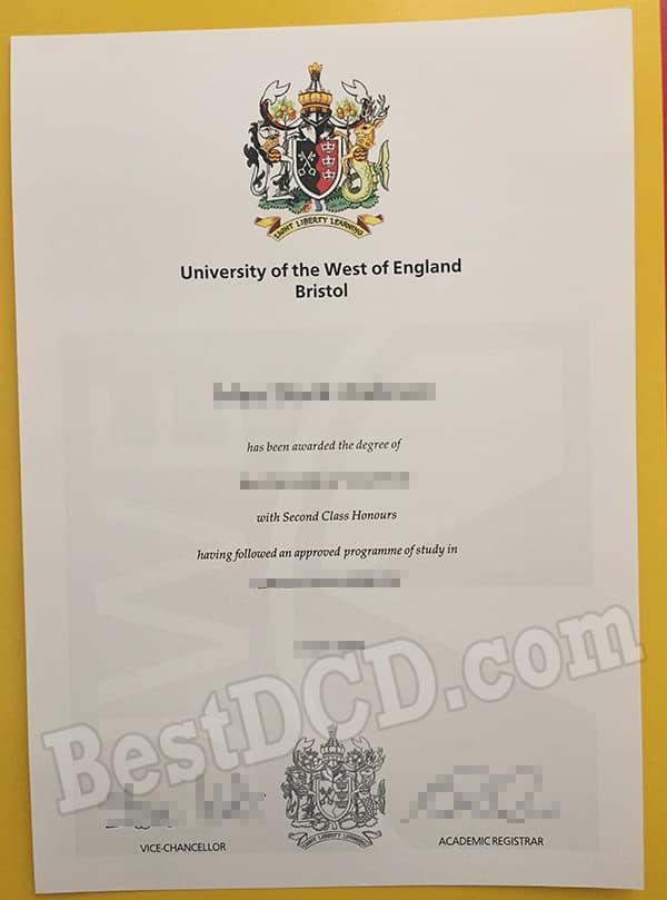 UWE Bristol fake degree, buy fake UWE Bristol master degree online