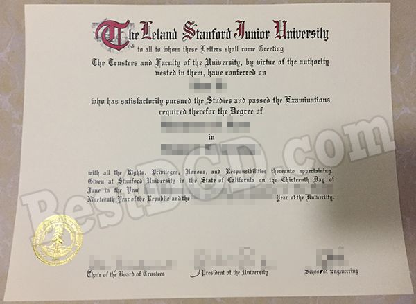 How much a copy of Stanford University fake degree