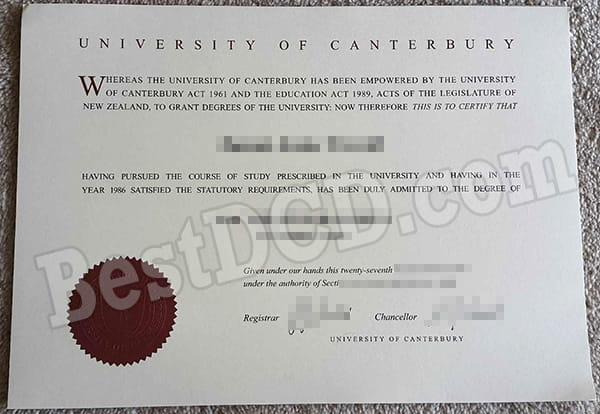 Where can I get a false University of Canterbury fake degree