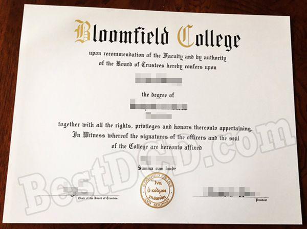 Bloomfield College fake degree, buy fake USA diploma online