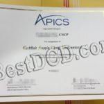 APICS fake certificate