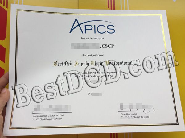 APICS fake certificate actual sample online, fake APICS diploma for sale