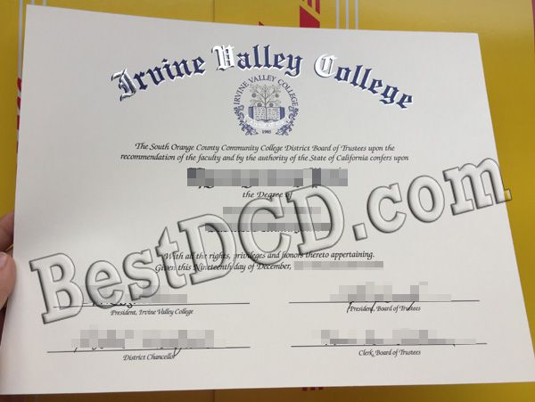 Need an Irvine Valley College fake degree, fake IVC diploma sample