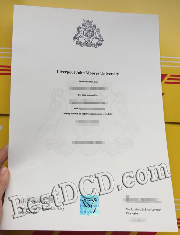 How much a copy of LJMU fake degree, LJMU diploma sample
